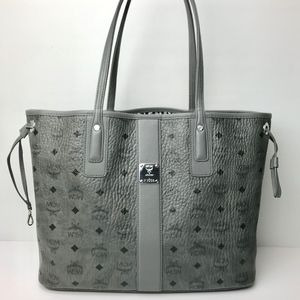 Authentic NWOT MCM Liz Reversible Tote Gray